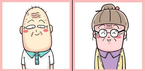 另类卡通头像_一起变老来自2064年的QQ情侣卡通头像