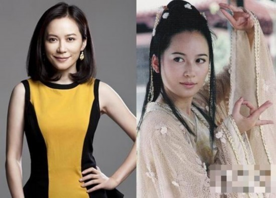 左边是俞飞鸿的近照,右边是早期的剧照,似乎相隔十多年,俞飞鸿的图片