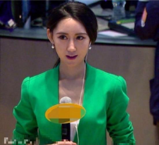 财经女记者容貌出众走红网络 神似佟丽娅组图