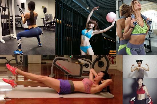 那些因健身走红的女神们