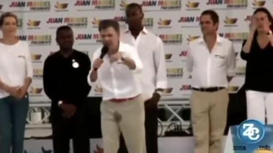 哥伦比亚总统演讲时小便失禁