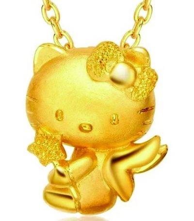 黄金打造的卡通首饰
