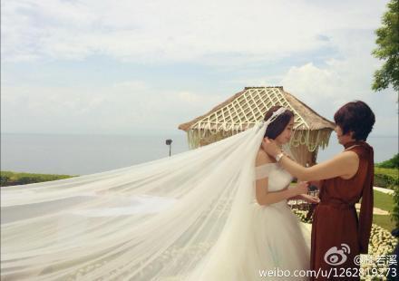 严宽杜若溪今大婚  杜若溪晒婚纱照感慨嫁了