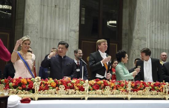 荷兰皇室招待习近平夫妇国宴菜单曝光(组图)