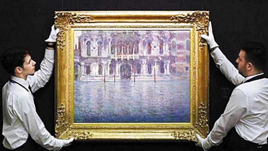 莫奈于1908年创作的油画作品《康塔里尼宫》以1968万英镑成交