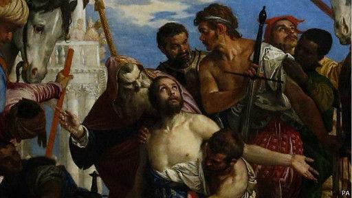 意大利文艺复兴著名画家委罗内塞的名画、从未外展过的《圣乔治殉难》在英国国家美术馆展出。