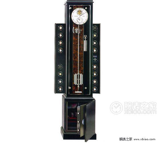 而erwin sattler的troja 16,看似一台传统的精密长摆钟,细致的校准令