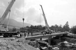 陵水什亦桥预计4月上旬全面通车