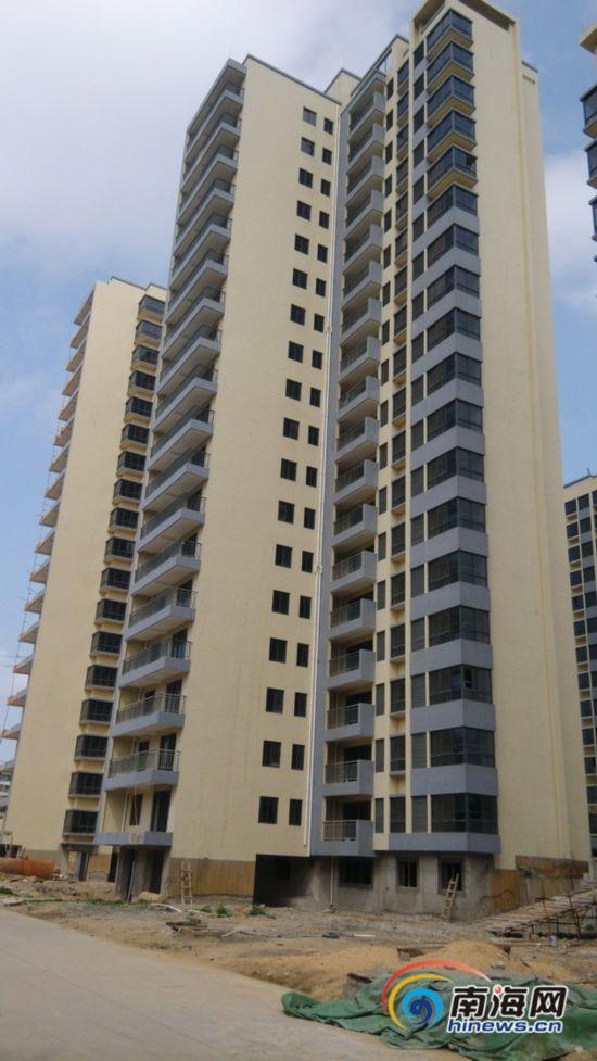 海口公园6栋新建集资房下沉倾斜 质量令人忧