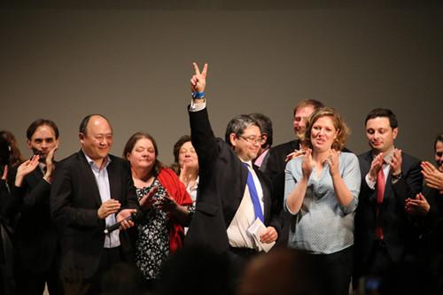 法国市政选举胜出陈文雄将成为巴黎首位华人议员