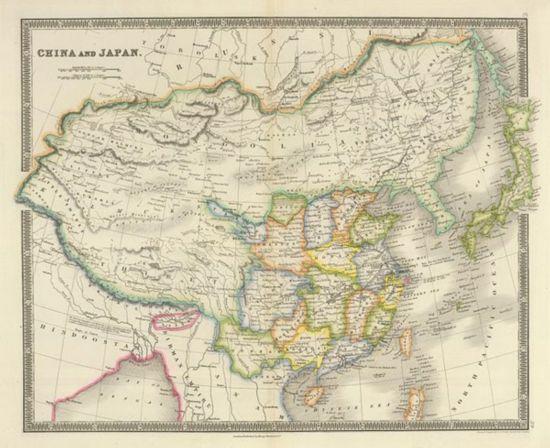 这幅地图所描绘的中国局部地形和政区划分