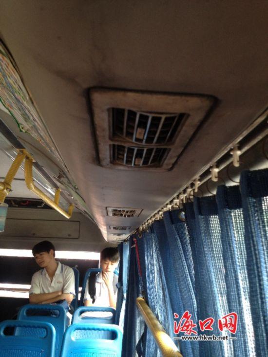海口市民称公交空调制冷效果差 如同蒸桑拿