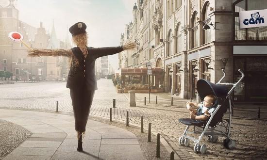 创意广告 孩子眼中的世界图片