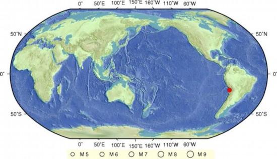 智利8.2级地震后余震不断 平均每6分钟震1次