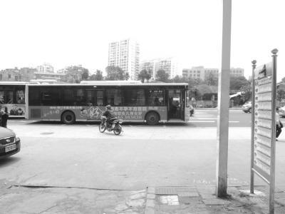 海口海秀路14个公交站被拆 市民等车不便