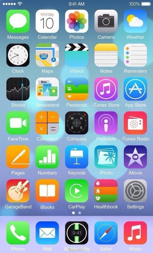 加入更多功能 苹果iOS 8系统界面曝光