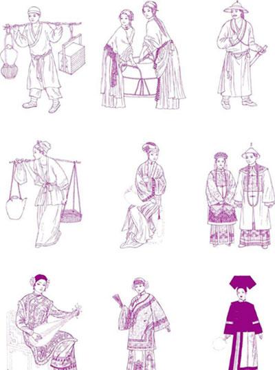 中国古代传统服饰清代传统旗袍(资料图)