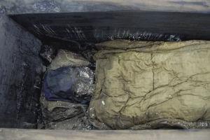 南博发掘500年前泰州古尸 眉毛胡须都在
