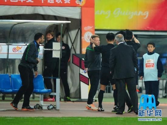 (体育)(5)足球――中超:贵州人和对阵北京国安