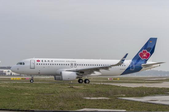 青岛航空首架空客A320飞机