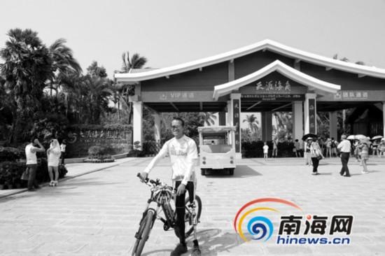 25岁独腿青年骑行2千公里抵三亚 微博晒感受