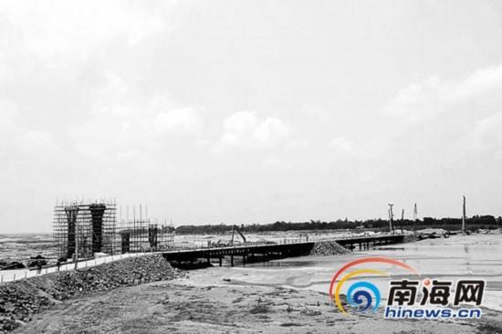 定海大桥完成工程量25% 建成解决30万人出行