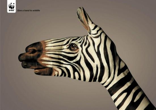 保护野生动物的广告极好地说明了好广告是不需要文字