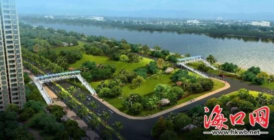 海口滨江西路拟建两座人行天桥
