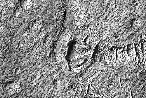 流水只是偶然现象 大气太薄致古火星极度严寒