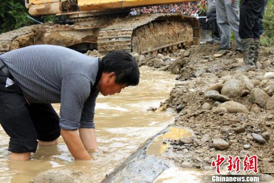 江西武宁县千年乌木重见天日树龄在4000年以上