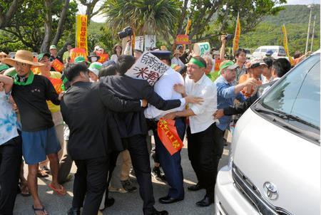 日在距钓鱼岛最近岛部署雷达居民拦防相车抗议