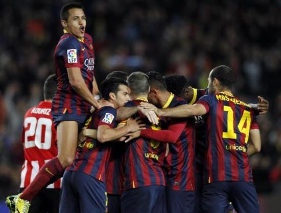 (体育)(1)足球--西甲:巴萨获胜