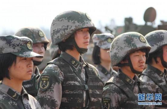 揭秘中国女兵的生活档案图片