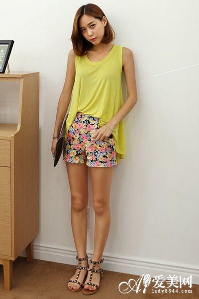 10款时尚印花短裤 玩转夏日小清新