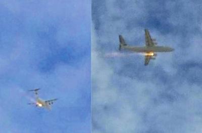 澳客机空中起火后迫降 发动机冒10到20米长火焰