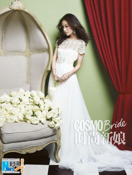 倪妮穿婚纱登《时尚新娘》-一瞬温柔 女星穿上婚纱特别美