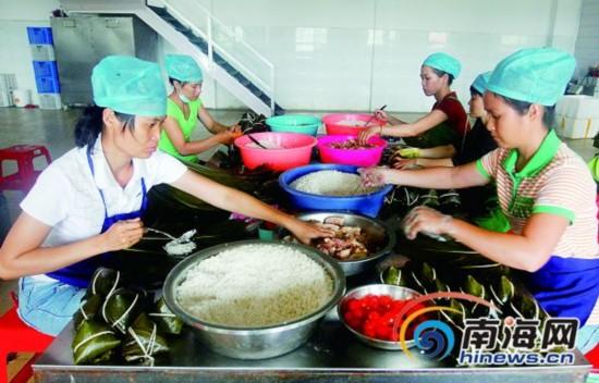 儋州粽子缘起汉朝 打响鱿鱼粽干贝粽等品牌