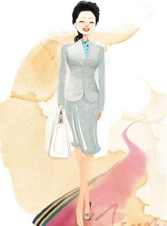 中国第一夫人超美漫画版彭丽媛出访造型蝴蝶经典事件漫画图片