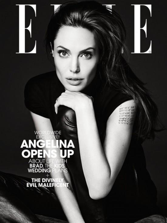 安吉丽娜 朱莉女王气质登 ELLE 封面图片