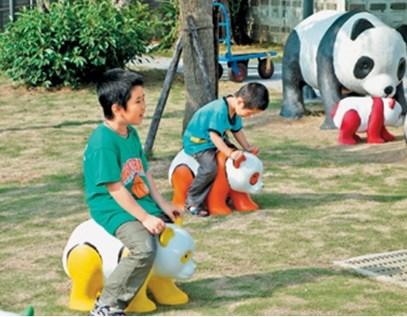 """台湾海科馆""""熊猫""""被游客骑坐展出2天就""""挂彩"""""""