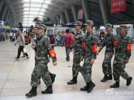 京津石六大火车站实施民兵常态化巡逻