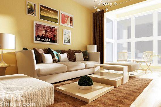 让整个沙发背景墙给人一种欧式的文化感.