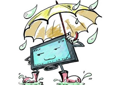 天气潮湿 如何避免家电黑屏现象