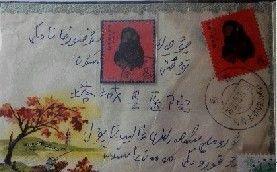 贴着1980版的猴票的实寄封。亚心网记者 曲媛媛 摄