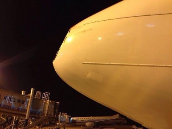 海航航班在高空遭鸟撞击 机头雷达罩被撞凹
