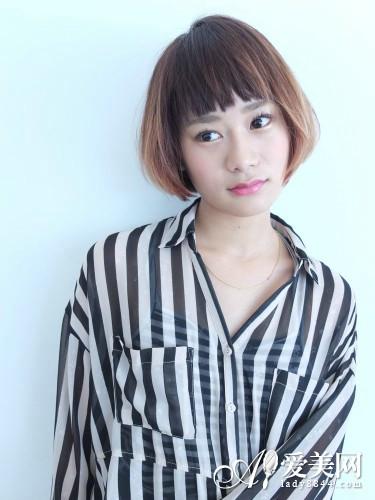 梨花露眉时尚十款短刘海女士任选-MicroR层次感短发发型烫短发图片
