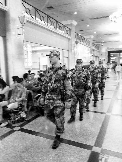 北京站的90后民兵巡逻8小时走了近25公里