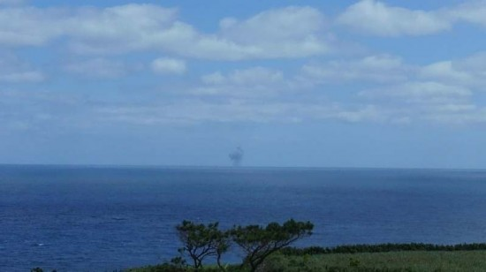冲绳离岛现蘑菇云 或系日自卫队小型核试验