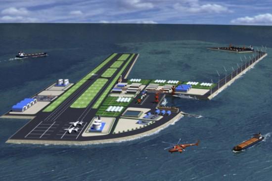 中国南海人工岛屿方案曝光 战机军舰到位