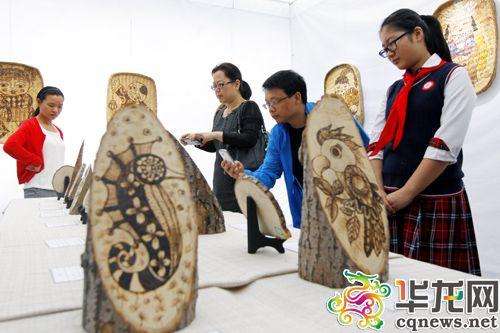 六一儿童节免费看展览 和孩子体验雕塑和烙画